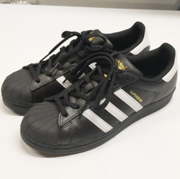 2713078b994f adidas Shoes - Adidas ✨Superstars✨ 7 Black White Gold Women s
